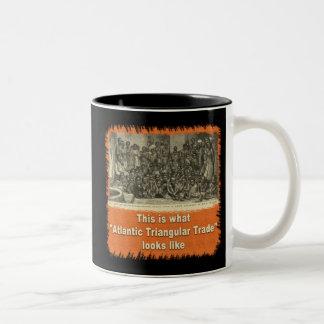 This is What Atlantic Triangular Trade Looks Like Two-Tone Coffee Mug