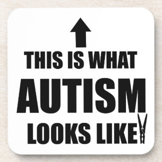 This is what autism looks like! drink coaster