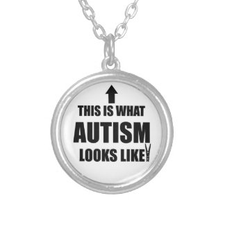 This is what autism looks like! round pendant necklace