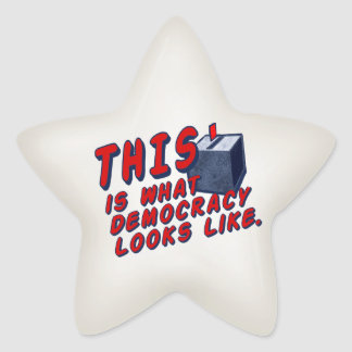 THIS Is What Democracy Looks Like Star Sticker