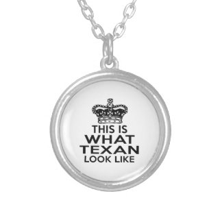 THIS IS WHAT TEXAN LOOK LIKE ROUND PENDANT NECKLACE