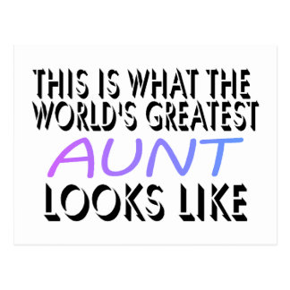 This Is What The World's Greatest Aunt (2) Postcard