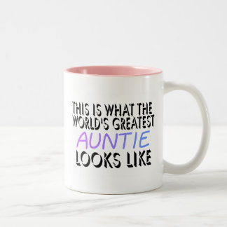 This Is What The World's Greatest Auntie (2) Two-Tone Coffee Mug