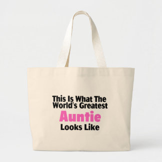 This Is What The World's Greatest Auntie Looks  Li Large Tote Bag