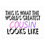 This Is What The World's Greatest Cousin (pink) (2 Postcard