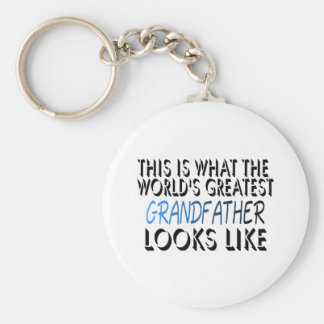 This Is What The World's Greatest Grandfather (2) Basic Round Button Keychain