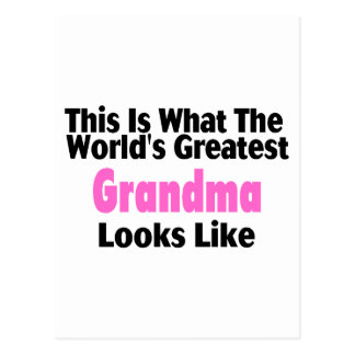 This Is What The World's Greatest Grandma Looks Li Postcard