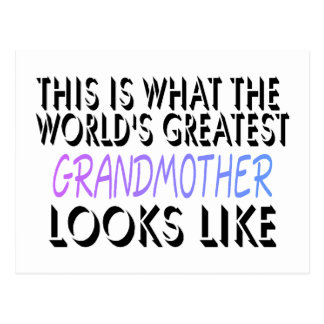 This Is What The World's Greatest Grandmother (2) Postcard