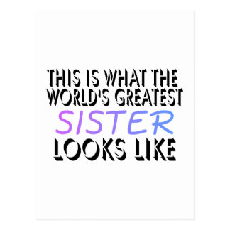 This Is What The World's Greatest Sister (2) Postcard