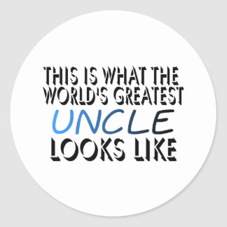 This Is What The World's Greatest Uncle (2) Classic Round Sticker