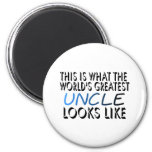 This Is What The World's Greatest Uncle (2) 2 Inch Round Magnet