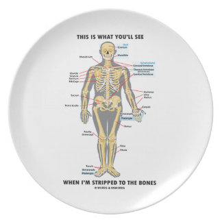 This Is What You'll See When I'm Stripped To Bones Plate