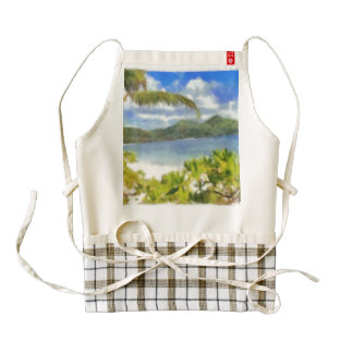 This is where I want to be Zazzle HEART Apron