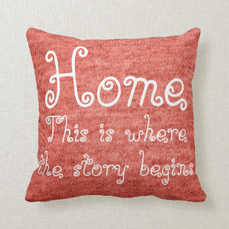 This is where the story begins throw pillow