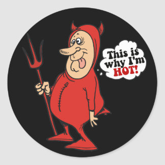 This Is Why I'm Hot Classic Round Sticker