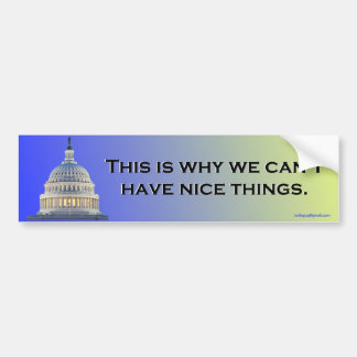 this is why we... car bumper sticker