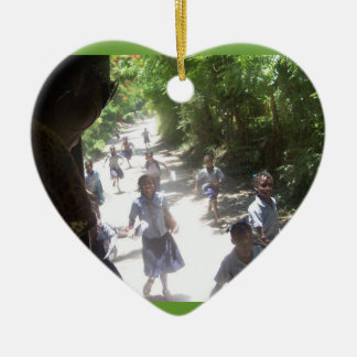 This is why we go! Double-Sided heart ceramic christmas ornament