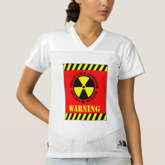 This Is Your 10 Second Get Out Of My Face Warning Women's Football Jersey