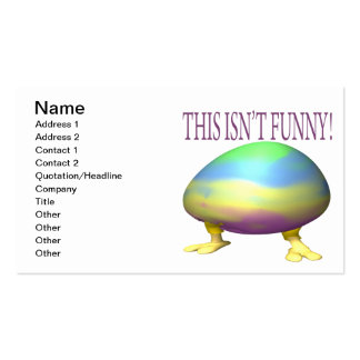 This Isn't Funny Business Card Template