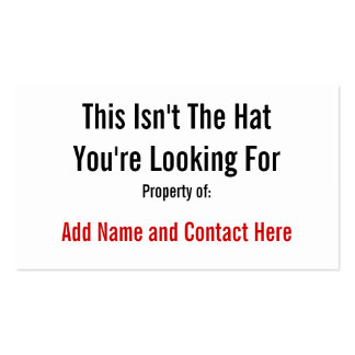 This Isn't The Hat Business Cards
