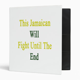 This Jamaican Will Fight Until The End Vinyl Binder
