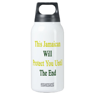 This Jamaican Will Protect You Until The End 10 Oz Insulated SIGG Thermos Water Bottle