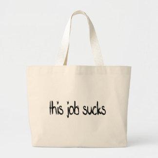 this job sucks tote bags