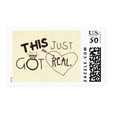 This Just Got Real Funny Wedding Postage at Zazzle