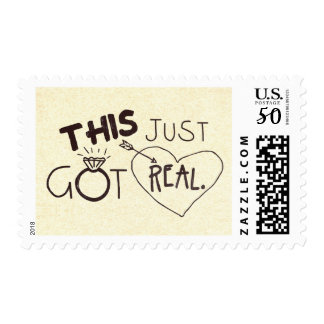 THIS JUST GOT REAL funny wedding Postage