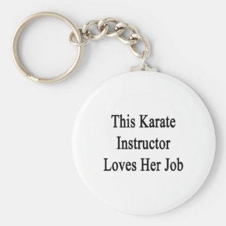 This Karate Instructor Loves Her Job Basic Round Button Keychain