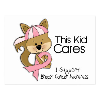 This Kid Cares Breast Cancer Awareness Postcard