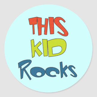 This Kid Rocks Tshirts and Gifts Classic Round Sticker