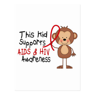 This Kid Supports AIDS Awareness Postcard