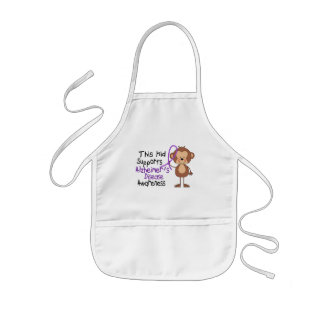 This Kid Supports Alzheimers Disease Awareness Apron