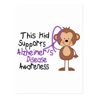 This Kid Supports Alzheimers Disease Awareness Postcard