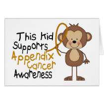 This Kid Supports Appendix Cancer Awareness Card