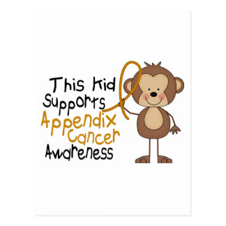 This Kid Supports Appendix Cancer Awareness Postcard