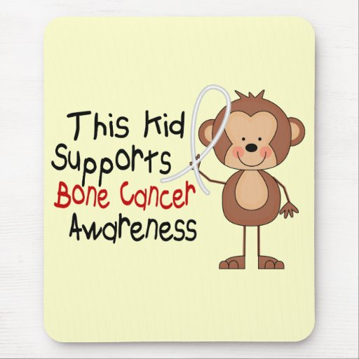 This Kid Supports Bone Cancer Awareness Mousepads