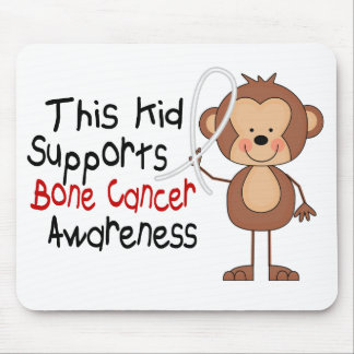 This Kid Supports Bone Cancer Awareness Mousepad