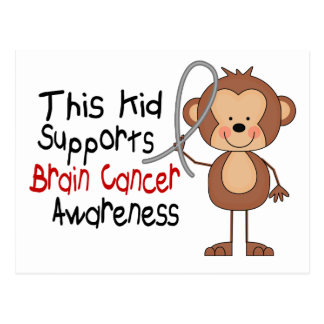 This Kid Supports Brain Cancer Awareness Postcard
