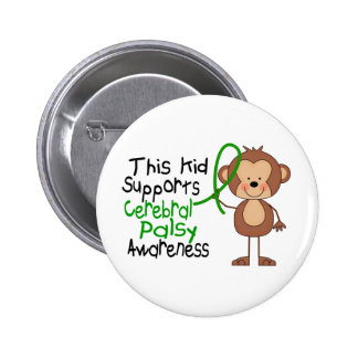 This Kid Supports Cerebral Palsy Awareness Button