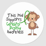 This Kid Supports Cerebral Palsy Awareness Classic Round Sticker