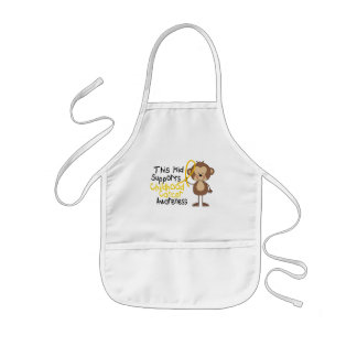 This Kid Supports Childhood Cancer Awareness Kids' Apron