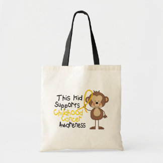 This Kid Supports Childhood Cancer Awareness Tote Bag