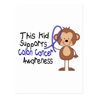 This Kid Supports Colon Cancer Awareness Postcard