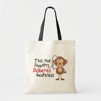 This Kid Supports Diabetes Awareness Tote Bags
