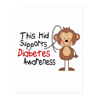 This Kid Supports Diabetes Awareness Postcard