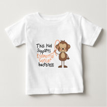 This Kid Supports Endometrial Cancer Awareness Baby T-Shirt