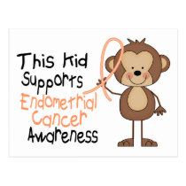 This Kid Supports Endometrial Cancer Awareness Postcard