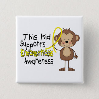 This Kid Supports Endometriosis Awareness Pinback Button